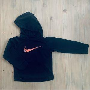 Nike   Black Dri-Fit Hooded Sweatshirt